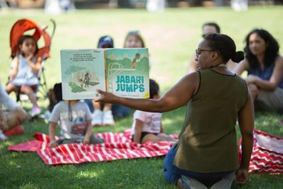 Storytime in Allegheny Commons Park