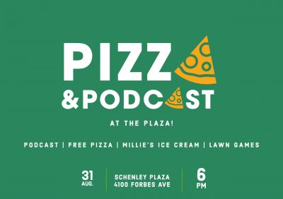 Pizza and Podcast at the Plaza