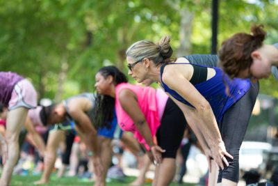Yoga in Allegheny Commons Park