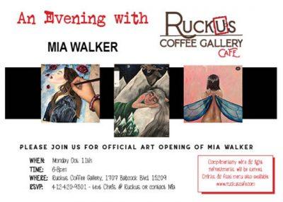 Art Opening - Introducing Mia Walker